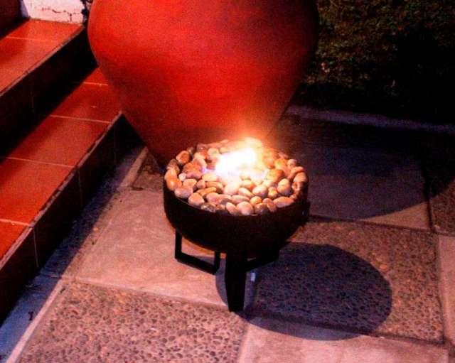 Estufa de etanol esmalte de hierro fundido estufa de for Estufa etanol