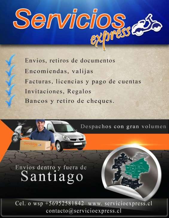 Servicio de mensajeria express santiago-valparaiso