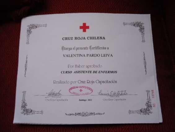 Urgente urgente se ofrece asistente de enfermos cruz roja disponibilidad inmediata viña del mar valparaiso quinta region