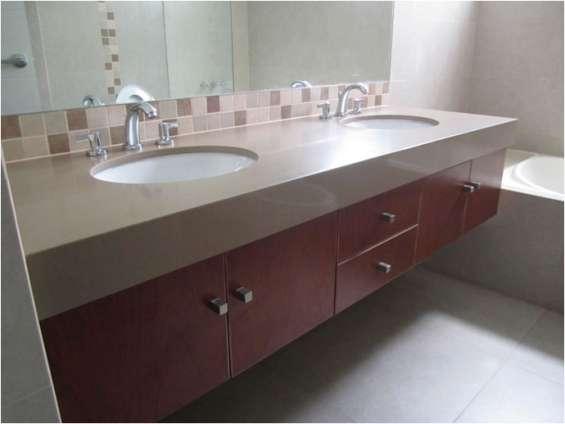 Cubiertas de cocina y baño en marmol,granito y cuarso en Viña del
