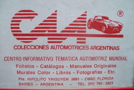 * automobilia c.a.a. *venta de literatura automotriz (todas las epocas)