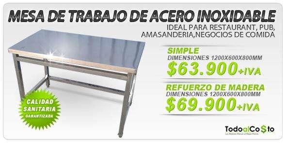 Mesa para cocina de acero inoxidable en Santiago - Decoración y ...