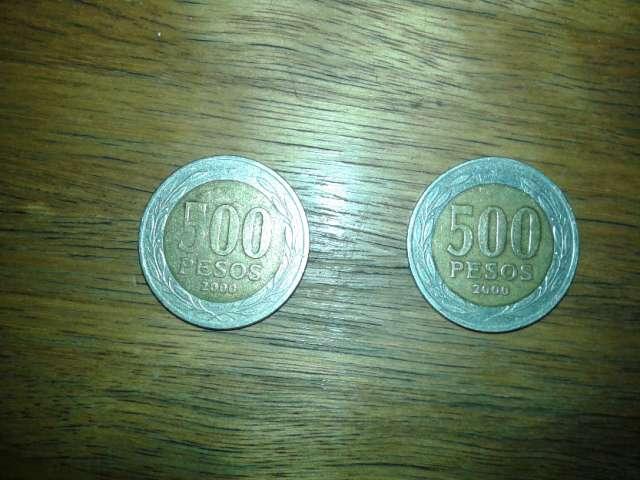 Vendo moneda de 500 año 2000