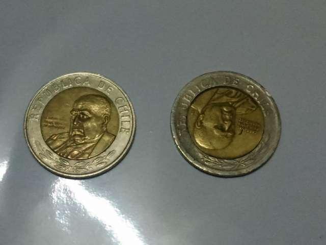 Vendo moneda de 500 del año 2000 con el impreso corrido en las dos caras