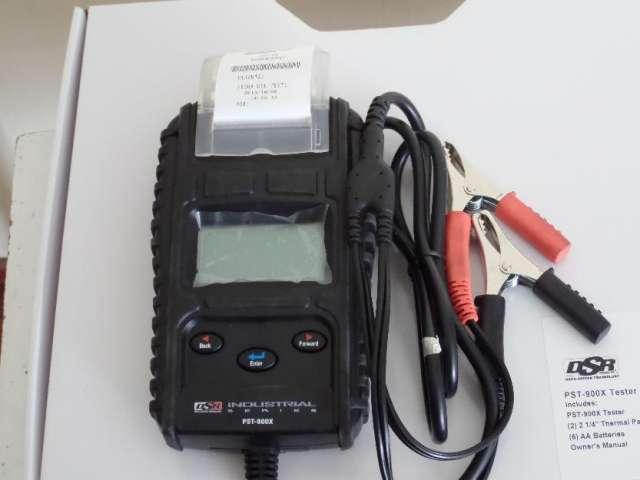 Tester de bateria con impresora