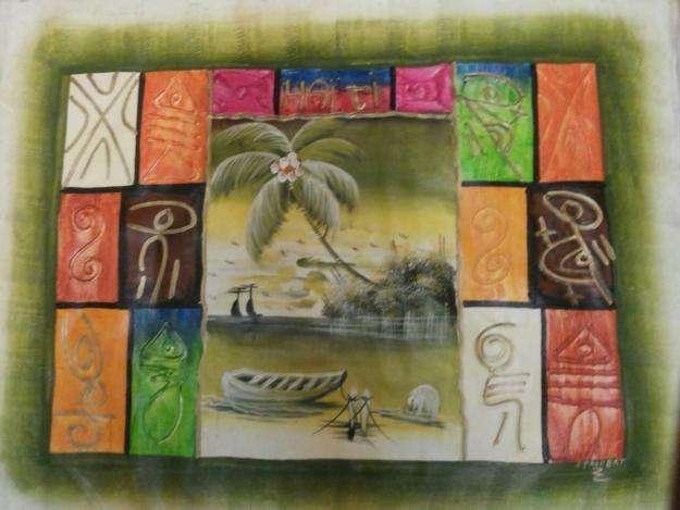 Oleo sobre tela provenientes de haiti