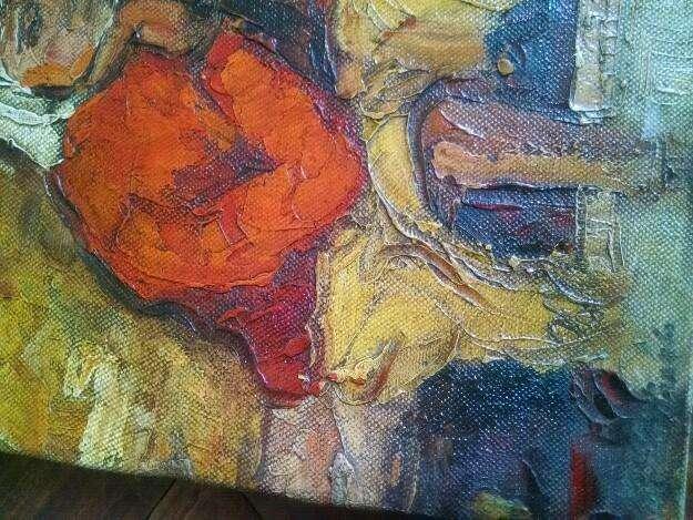 Pacheco altamirano sin marco , tela 39 x 46 cm