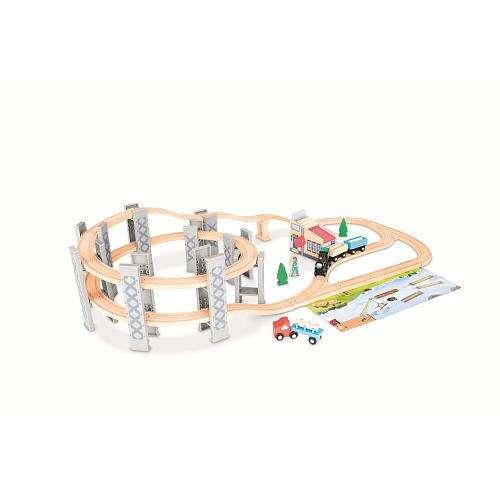 Imaginarium express timber log spiral train set