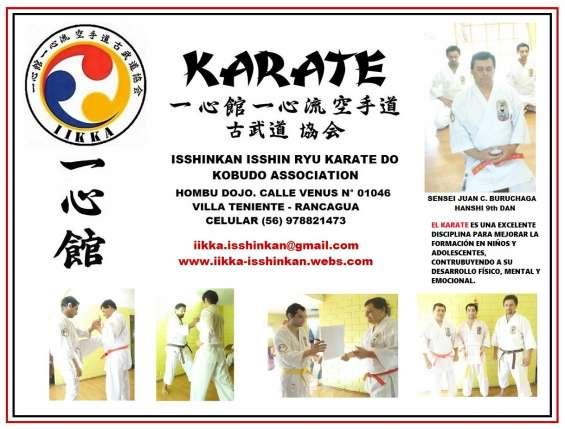 Clases de karate formativo para niños y jóvenes