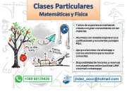 Clases Particulares de Física y Matemáticas (métodos efectivos para solución de problemas)