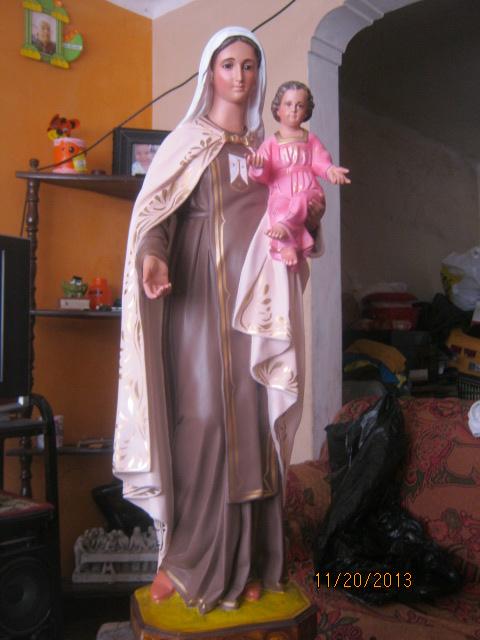 Virgen del carmen de100 cm